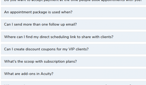 Acuity Scheduling 10 tips you can use today